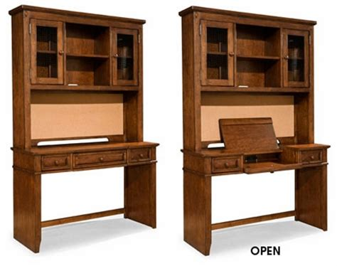 Traditional Rustic Boys Bedroom Desk W Hutch Cabinet Boys Desk With Hutch