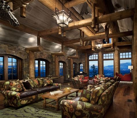 mountain home decorating ideas stone mountain chalet with elevator and ski room