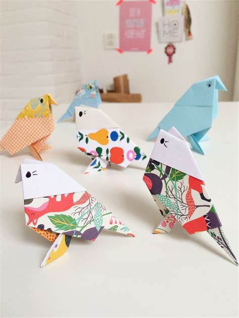 Folded Paper Figures - best 25 origami birds ideas on