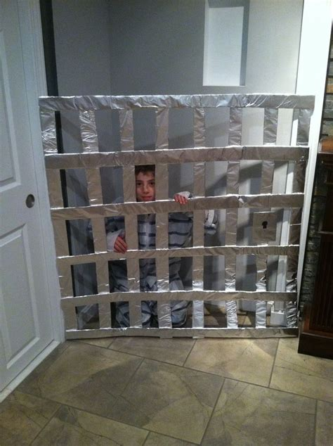 home  jail cell  prisoner outfit  trick  trunk