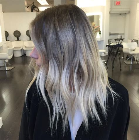 will pale ash blonde highlights blend with gray and brown hair 90 balayage hair color ideas with blonde brown and