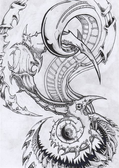 black and grey biomechanical tattoo designs biomechanical images designs