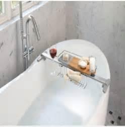 bathtub organizer adjustable bathtub caddy foter