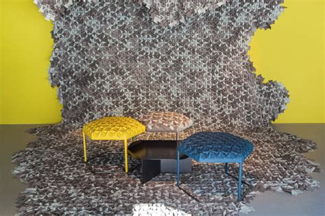 design milk hive hive leather patches create 3d upholstery textiles