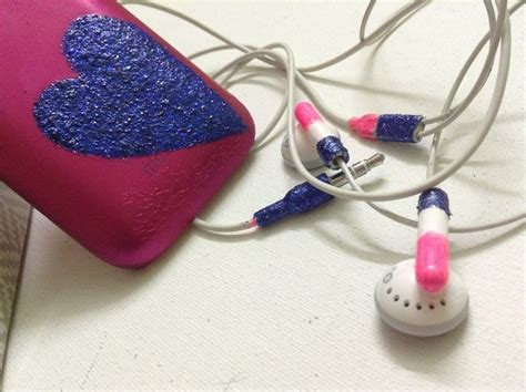 Decorated Earbuds by Glitterized Headphones And Cover 183 How To Decorate