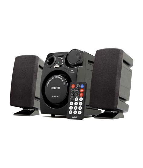 best 2 1 speakers buy intex it 881u 2 1 speaker system black at
