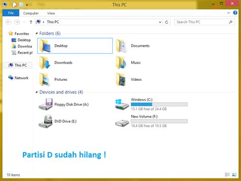 drive d hilang cara menyembunyikan partisi di windows dengan mudah