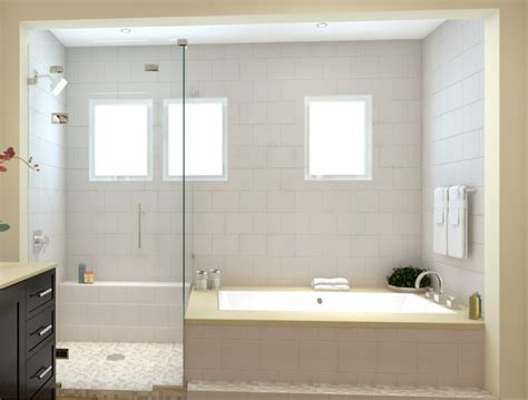 combined shower and bathtub master bath tub shower combo op 3 shower panels