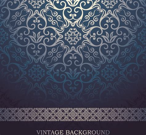 Car Wallpapers Free Psd Background Blue by Blue Floral Ornament Vintage Background Vector Free Vector