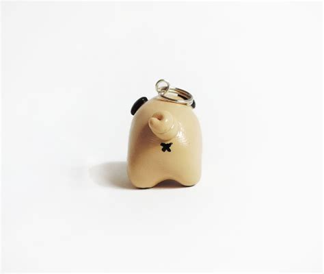 pug polymer clay pet pug necklace polymer clay pendant by cbexpress