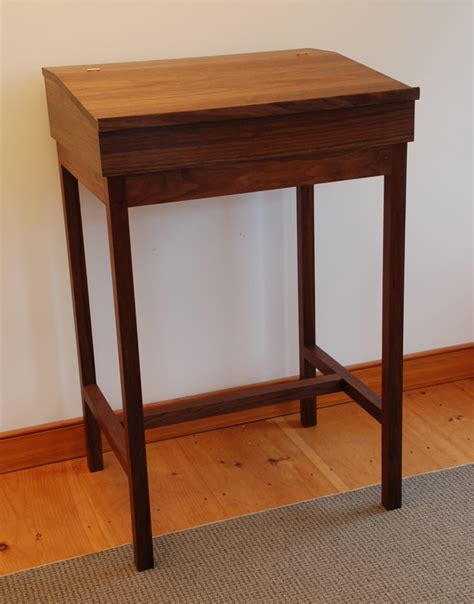 Handmade Walnut Stand Up Writing Desk Made In Vermont Stand Up Writing Desk