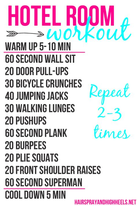 hotel room workout no equipment 10 workouts to do at home