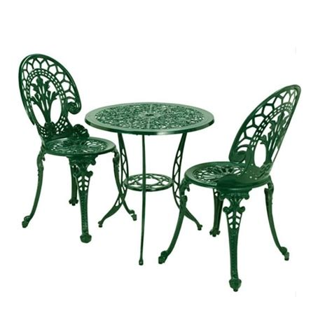 Green Bistro Chairs Aluminium Bistro Set Green Savvysurf Co Uk