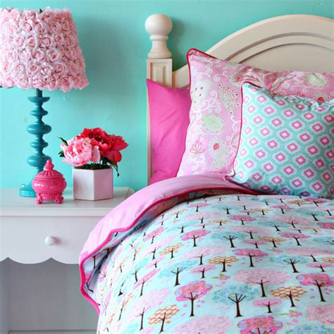 girls bedroom w aqua blue pink green with paris fabulous new bedding by caden lane