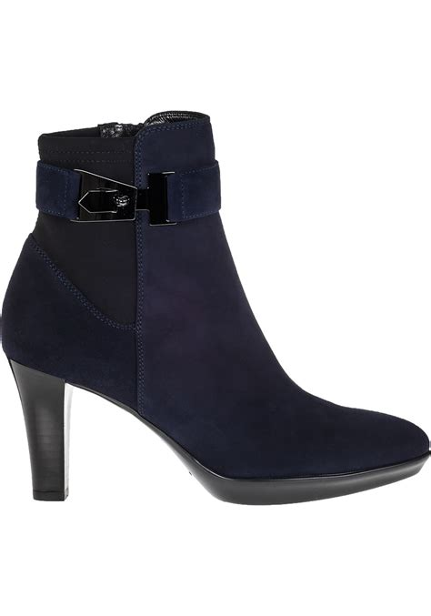aquatalia riyan ankle boot navy suede in blue lyst