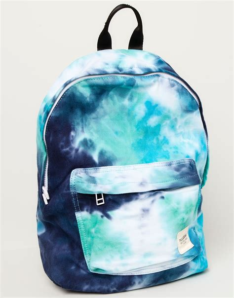 pull tie dye backpack in blue for others lyst