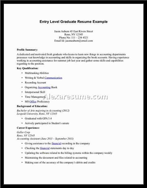 Profile Summary For Resume Exles by Profile Summary For Resume Exles Free Resumes Tips