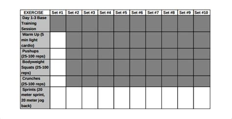 bodybuilding excel template free workout log template excel dandk