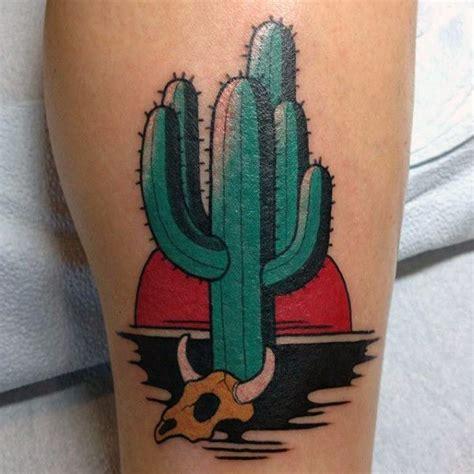 saguaro cactus tattoo cactus neo traditional inspiration pinteres