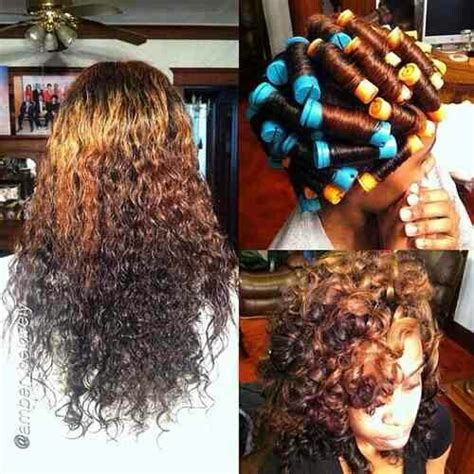 perm rod set using ors lock and twist gel and premium perm rods gorg color who did ur hair girl pinterest