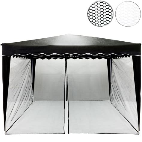 pavillon schwarz moskitonetz f 252 r 3 x 3 pavillon schwarz pavillons