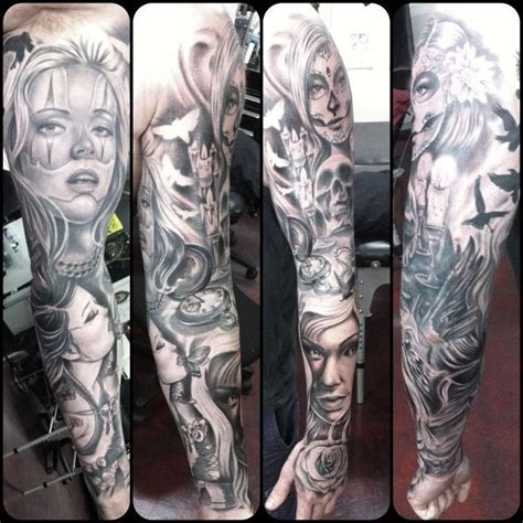 chicano hair style 16 best images about full tattoo sleeves on pinterest