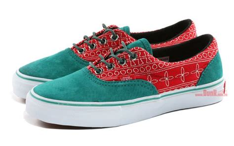 blue pattern vans vans vault era lx inca flower teal red white shoes