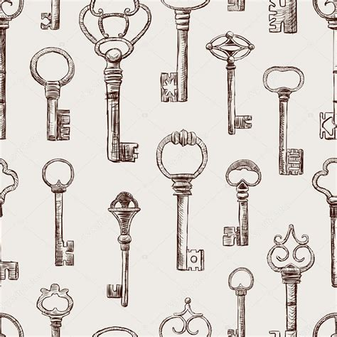 download key pattern pattern of the old keys stock vector 169 chronicler101