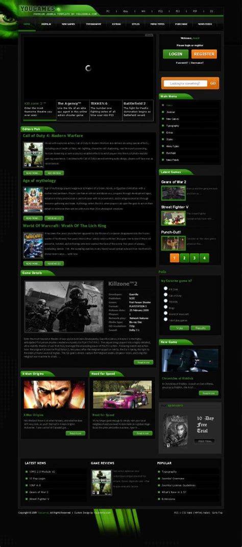 joomla themes games yougames joomla gaming template avj themes