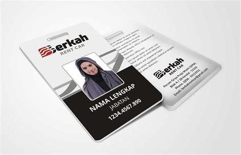 cara membuat id card yang keren cara desain id card simple dan keren