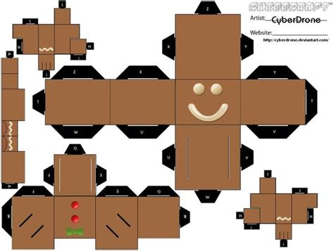 Cubee Papercraft - cubee gingerbread 1 by cyberdrone on deviantart