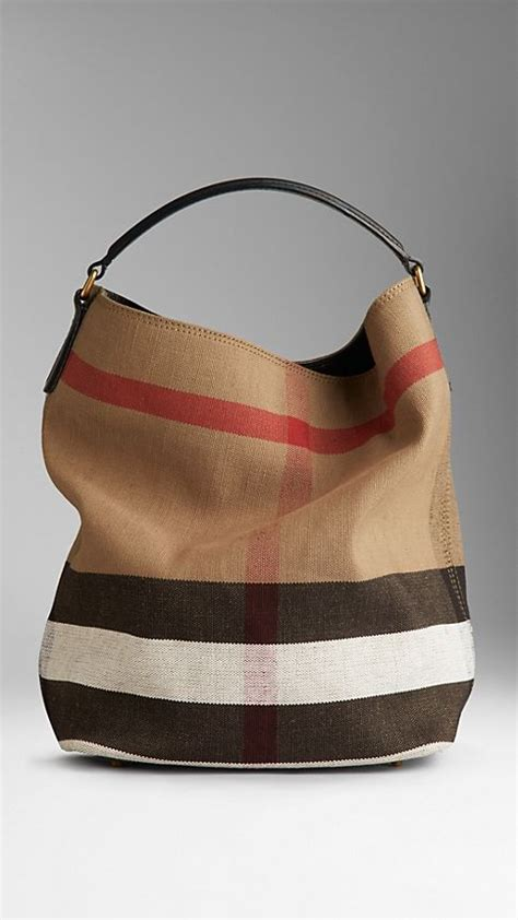 Burberry Check Canvas Hobo by Burberry