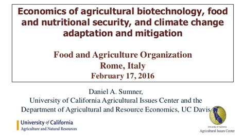 agriculture climate change and food security in the 21st century our daily bread books agricultural biotechnology and the economics of food