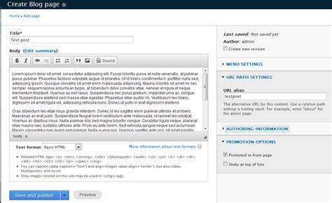 build blog creating a blog entry in drupal 8 inmotion hosting