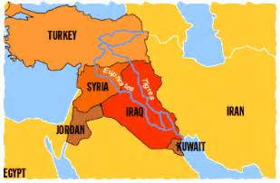 middle east map euphrates river a global shortage