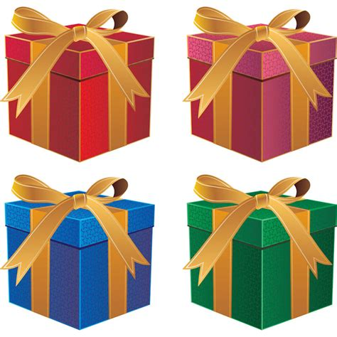 christmas presents vector free stock vector art