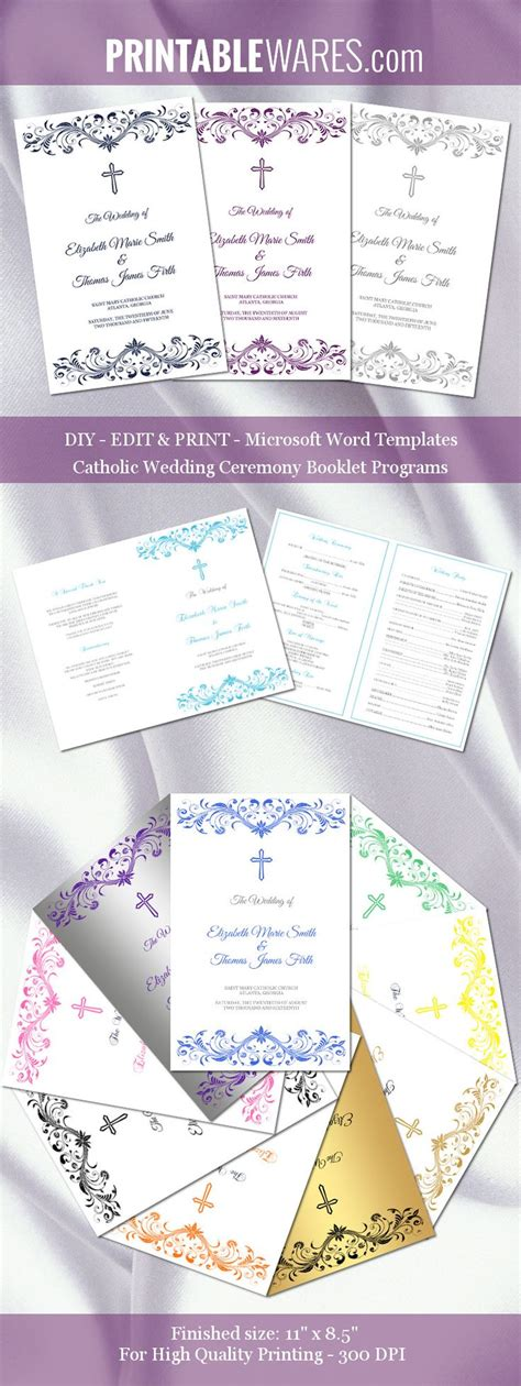 17 best ideas about wedding program templates on