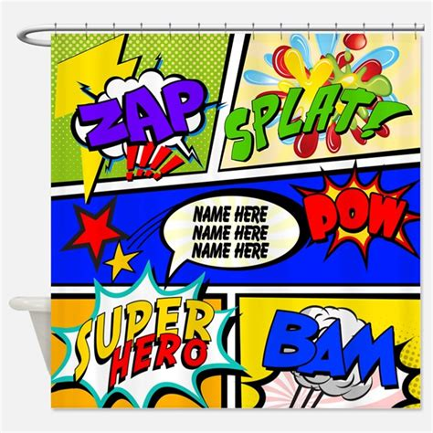 comic book shower curtain superhero shower curtains superhero fabric shower