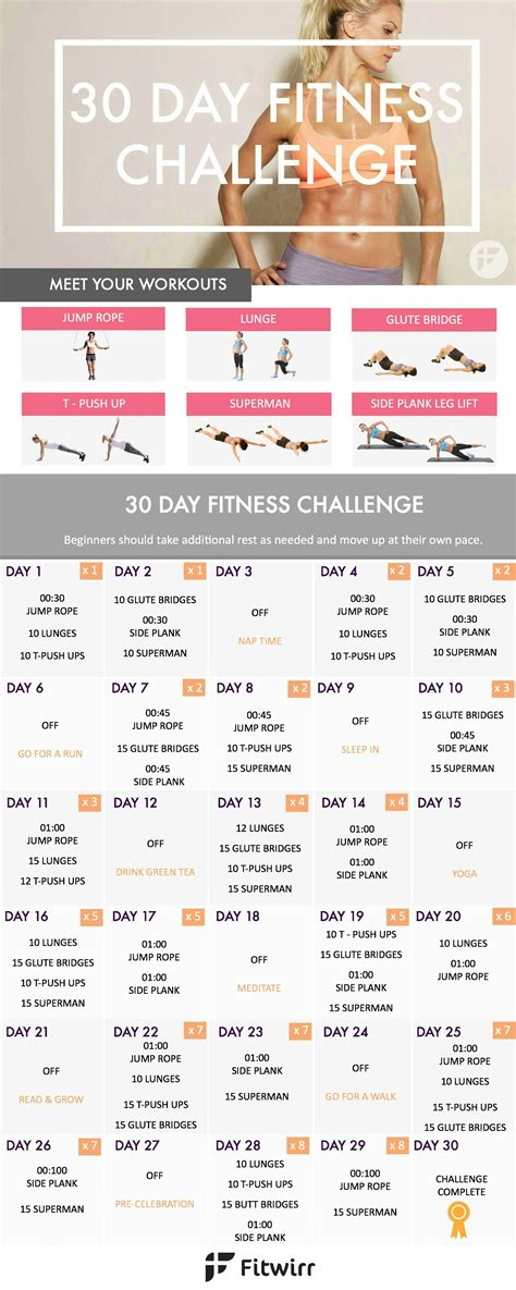 30 day exercise challenge for 30 day fitness challenge transform your in 30 days
