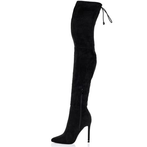 high heeled the knee boots black the knee boots high heel coltford boots