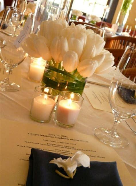 Kerzen Tischdeko Hochzeit by Tischdeko Mit Tulpen Festliche Tischdeko Ideen Mit