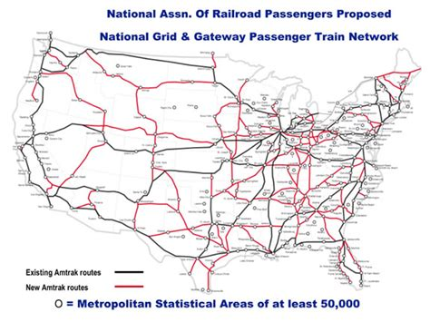 american rail network map network steel interstate coalition