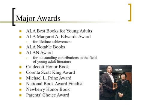 Major Award L by Ppt Walter Dean Myers Powerpoint Presentation Id 447468
