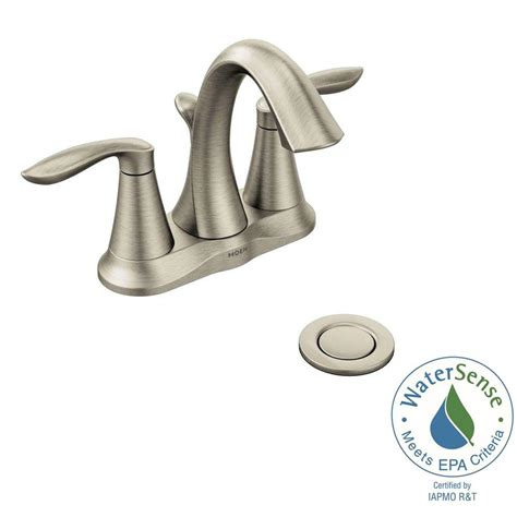 moen eva bathroom faucet moen eva 4 in centerset 2 handle high arc bathroom faucet