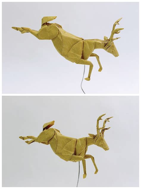 Origami Deer Diagram - 23 wonderful origami woodland animals
