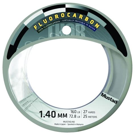 Leader Mustad Fluoro Carbon 55 Lb mono and fluorocarbon lines mustad