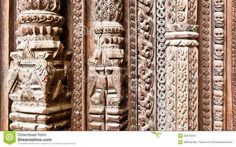 0063 royal wooden royal carved part of carved wooden door on hanuman dhoka royal palace in stock images image 32470314