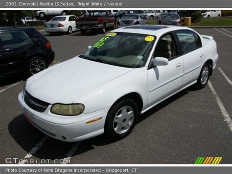 Bright Ls by Bright White 2001 Chevrolet Malibu Ls Sedan Neutral