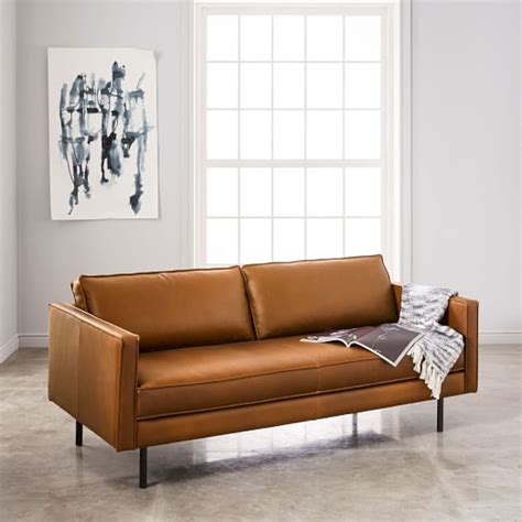 west elm axel sofa axel leather sofa 76 quot west elm