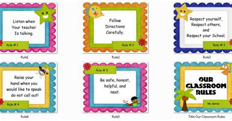 instructional materials our classroom rules poster
